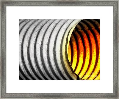 Lava Tube Framed Print by Joe Jake Pratt