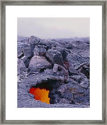 Lava Tube, Kilauea Volcano, Hawaii Framed Print by G. Brad Lewis