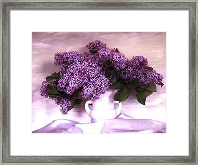 Lavendar Lilacs Framed Print by Marsha Heiken