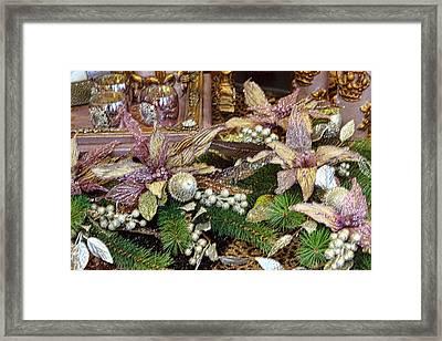 Lavender Christmas Framed Print by Linda Phelps