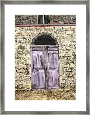 Lavender Door-france Framed Print