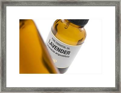 Lavender Essential Oil Framed Print