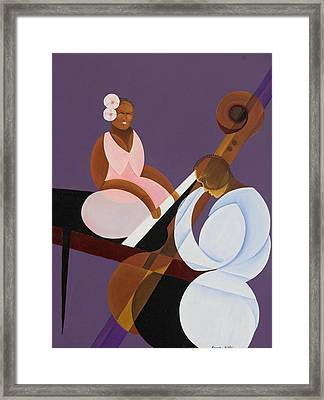 Lavender Jazz Framed Print by Kaaria Mucherera