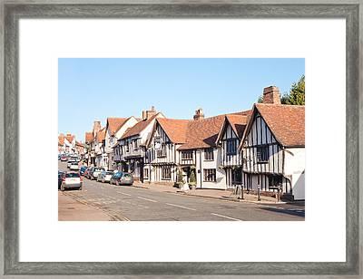 Lavenham High Street Framed Print