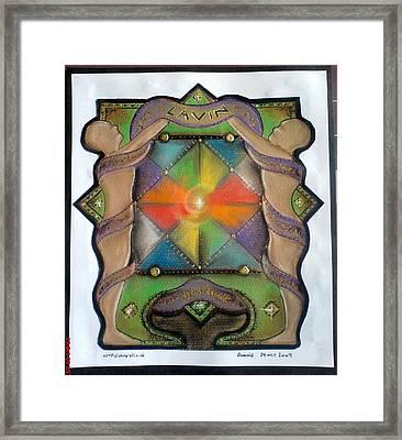 Lavin Family Crest Framed Print