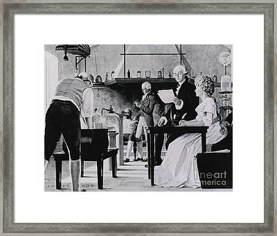 Lavoisier Chemistry Laboratory Framed Print by Science Source