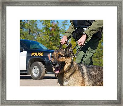 Law Enforcement. Framed Print