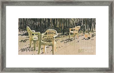 Lawn Chairs Framed Print