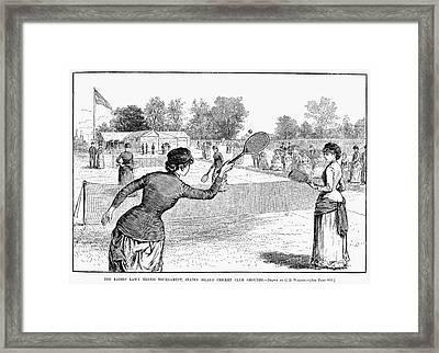 Lawn Tennis, 1883 Framed Print by Granger