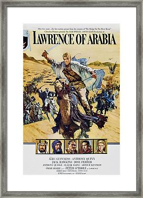 Lawrence Of Arabia, Top Peter Otoole Framed Print by Everett