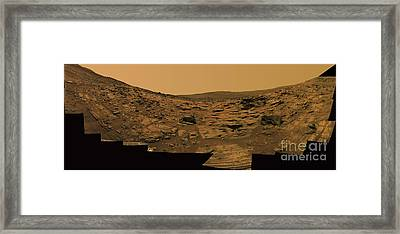 Layered Exposures Of Rock Framed Print by Stocktrek Images