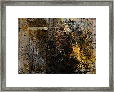 Layered Realities Abstract Composition Painting Print Framed Print