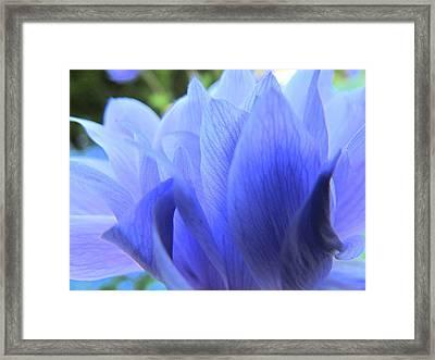 Layers Of Blue Framed Print by Eva Kondzialkiewicz