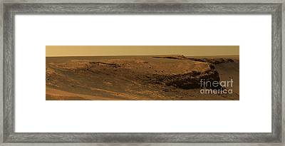 Layers Of Cape Verde In Victoria Crater Framed Print