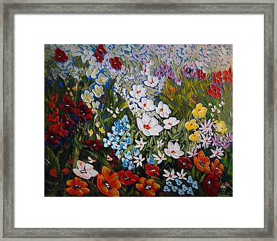 Layers Of Happiness  Framed Print by Irena Sherstyuk