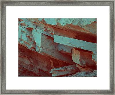 Layers Of Rock Framed Print by Naxart Studio