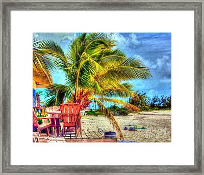 Lazy Beach Day Framed Print by Debbi Granruth