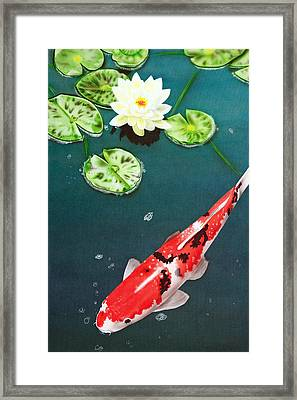 Framed Print featuring the painting Lazy Day by Dan Menta