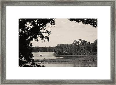 Lazy Day On Sand Lake Framed Print by Artist Orange