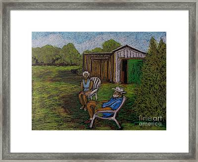 Lazy Day On The Farm Framed Print by Reb Frost