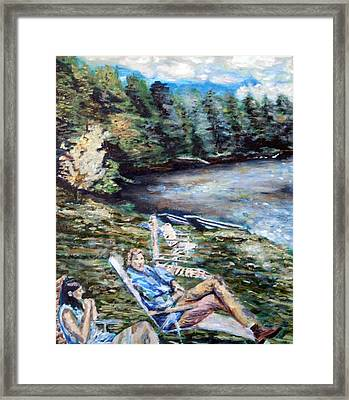 Framed Print featuring the painting Lazy Day On The Mill Pond by Denny Morreale