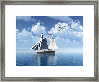 Lazy Day Sail Framed Print by Julie Grace