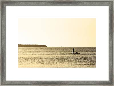 Lazy Sunset Framed Print by Ty Helbach