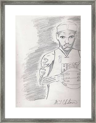 LBJ Framed Print by Michael Chatman