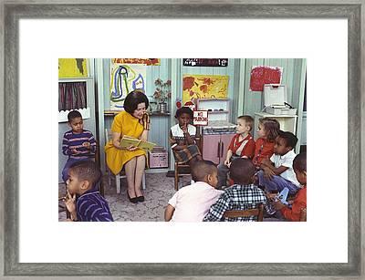 Lbjs Great Society Programs. Lady Bird Framed Print by Everett