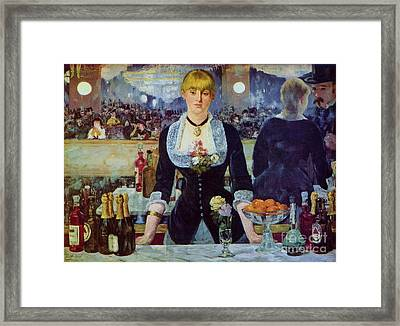 Le Bar Des Folies-bergere Framed Print by Pg Reproductions