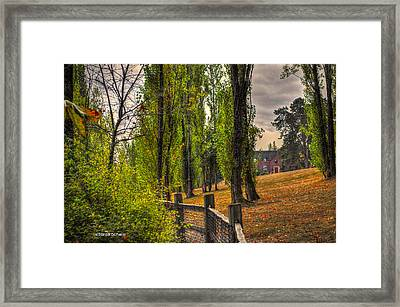 Le Chateau A Fall Day In The Nw Framed Print by Sarai Rachel