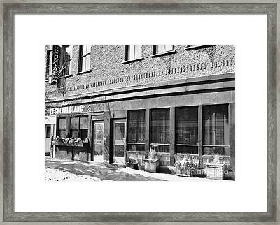 Le Cheval Blanc Montreal Framed Print by Reb Frost