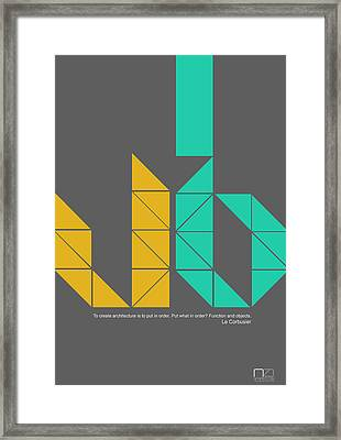 Le Corbusier Quote Poster Framed Print by Naxart Studio