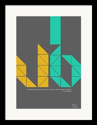 Linear Digital Art Framed Prints