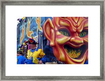 Le Flames D' Enfer Framed Print by Rdr Creative