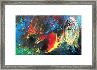 Le Fruit Defendu Framed Print by Miki De Goodaboom