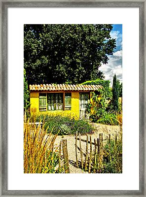 Le Jardin De Vincent Framed Print by Chris Thaxter