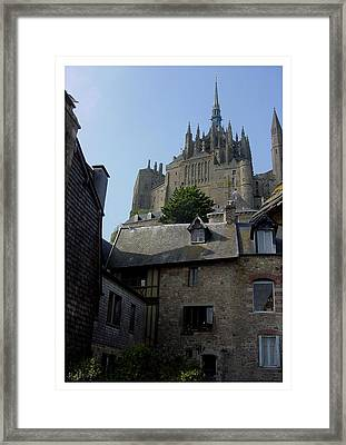 Framed Print featuring the photograph Le Mont-michel by Frank Wickham