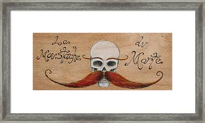 Le Mustache Du Morte Framed Print by Canis Canon
