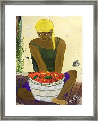 Le Piment Rouge D' Haiti Framed Print by Nicole Jean-Louis