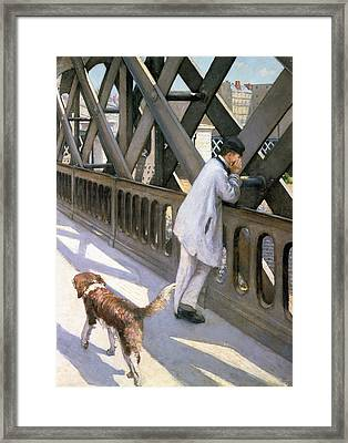 Le Pont De L'europe Framed Print