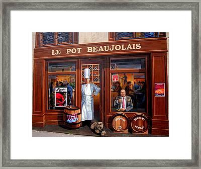 Le Pot Beaujolais Framed Print by Laurel Talabere