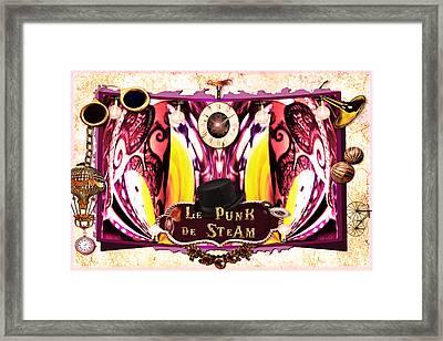 Le Punk De Steam Framed Print by Paula Ayers