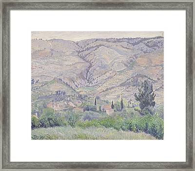 Le Ragas Near Toulon Framed Print by Camille Pissarro