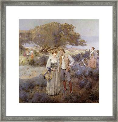 Le Retour De Cythere Framed Print by William Lee