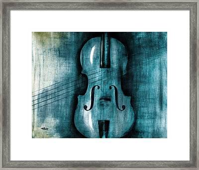 Le Violon Bleu Framed Print by Hakon Soreide