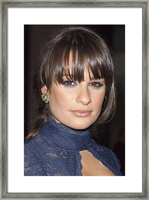 Lea Michele At Arrivals For American Framed Print