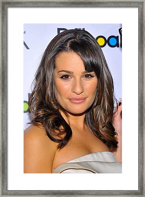 Lea Michele At Arrivals For Billboards Framed Print by Everett