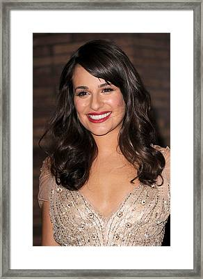 Lea Michele At Arrivals For Glamour Framed Print