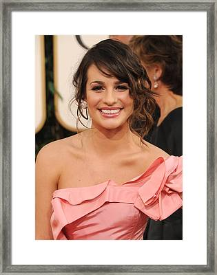 Lea Michele At Arrivals For The Framed Print by Everett